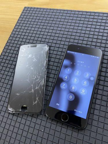iPhone7 ガラス割れ修理 日高市 200221